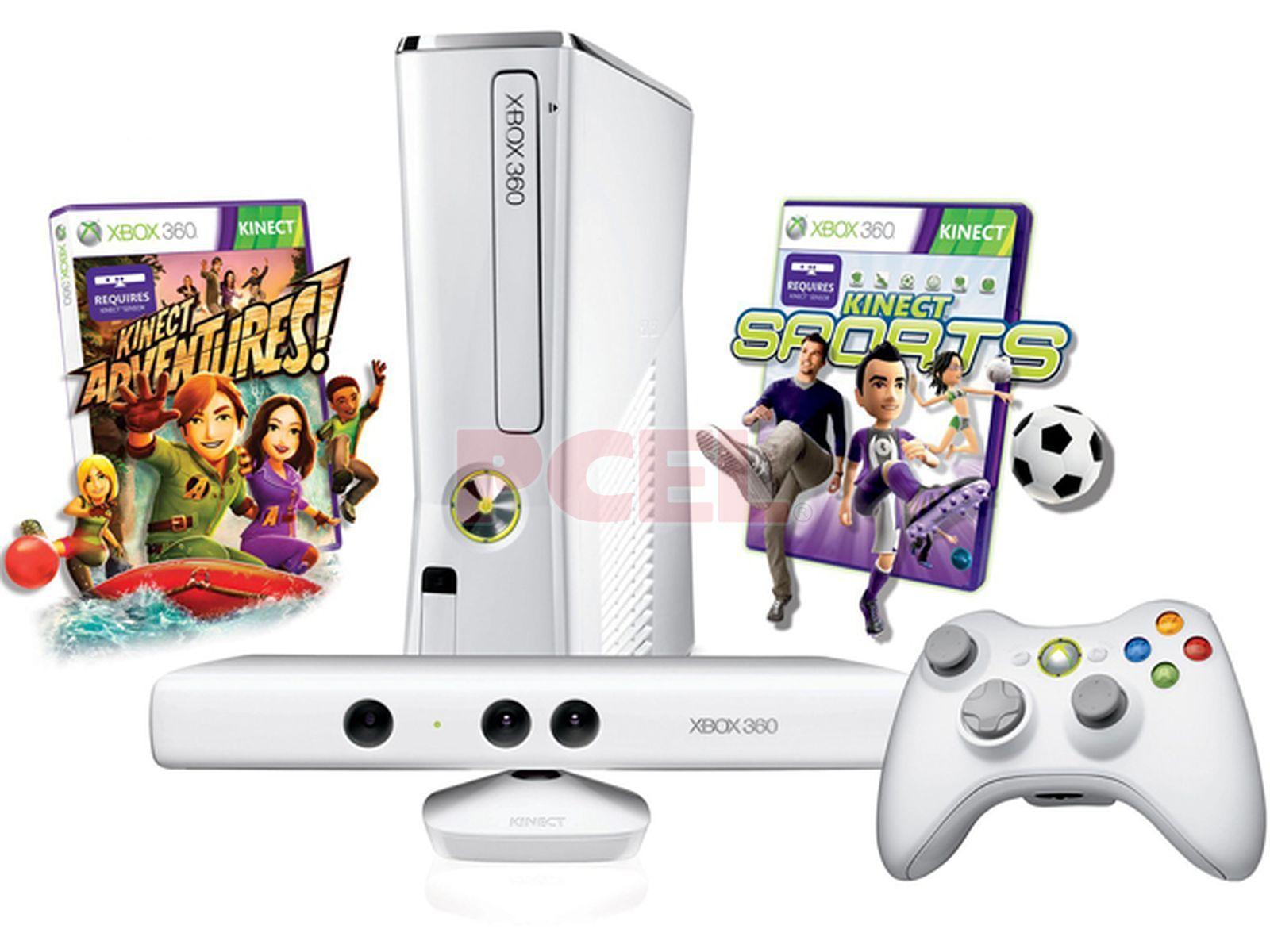 Consola Xbox 360 Slim Edicion Especial Kinect Color Blanco