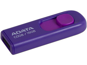 Unidad Flash USB 2.0 Adata C008 de 16 GB. Color Morado.