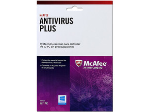McAfee Antivirus Plus (1 PC). Tarjeta de Activación.