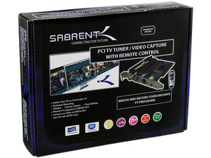 Tarjeta Sabrent TV Tuner, Captura de Video, Sintonizador de TV con Control Remoto. PCI