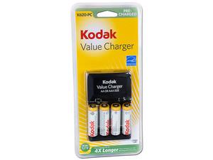 Cargador de pilas aa y aaa kodak incluye 4 pilas - Cargador pilas recargables ...