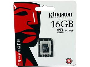 tarjeta de memoria kingston 16gb microsdhc clase 4