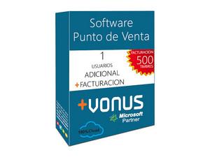 Un Usuario Adicional Vonus Software y Modulo de Facturacion (1 año).