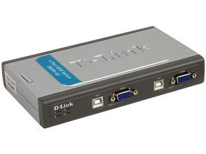 Switch KVM D-Link de 4 puertos USB. Controla cuatro computadoras desde un solo teclado, monitor y mouse.