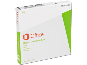 Microsoft Office Hogar y Estudiantes 2013 (1 PC).