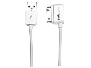 Cable para carga y sincronización StarTech de 30 pines en ángulo izquierdo a USB, 50cm.