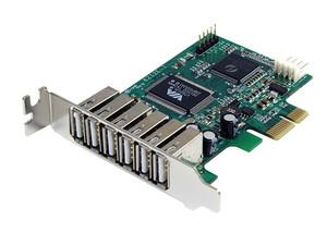 Tarjeta Controladora de bajo perfil StarTech con 7 Puertos USB 2.0, PCI Express.