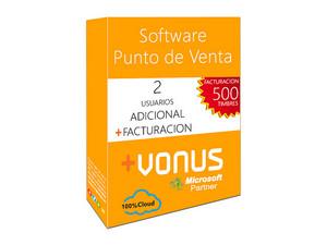 Dos Usuarios Adicional Vonus Software y Modulo de Facturacion (1 año).