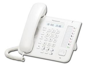 Teléfono Alámbrico Panasonic KX-DT521 con 8 teclas programables. Color Blanco.
