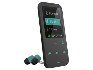 Reproductor de MP4 Energy Sistem Touch, Radio FM y Grabador de Voz. 8GB. Color Negro, Bluetoth