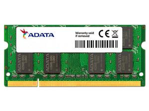 Memoria ADATA SODIMM DDR2 PC2-5300 (667MHz), 1 GB.