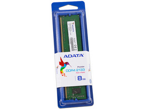 Memoria ADATA Premier DDR4 PC4-17000 (2133 MHz), CL15, 8GB.
