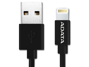 Cable Adata Lightning a USB, 1m. Color Negro.