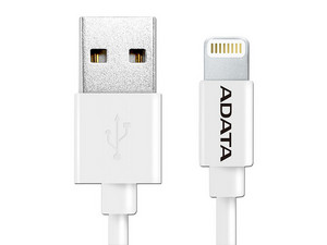 Cable Adata Lightning a USB, 1m. Color Blanco.