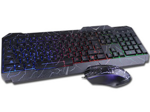 Kit Teclado y Mouse Gamer Naceb NA-633, USB.