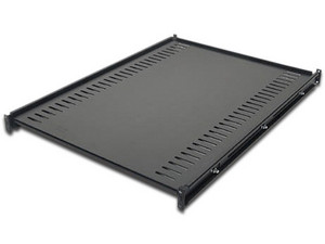 Estante charola fija universal para gabinete rack de servidores 1U con 26 pulgadas de profundidad.