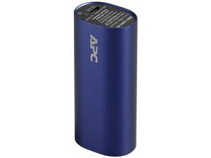 Batería Portátil recargable APC Power bank de 3,000 mAh para Smartphones y Tablets. Color Azul.