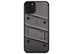Funda Zizo Bolt con clip para iPhone 11 Pro MAX, Color Gris/Negro.