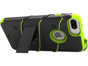 Funda ZIZO Bolt iPhone para 7/6s/6. Negro Verde.