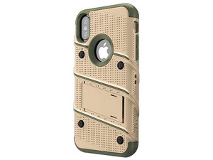 Funda ZIZO Bolt para iPhone X. Arena/Verde.