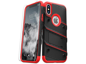 Funda ZIZO Bolt para iPhone Xs MAX. Color Negro/Rojo.