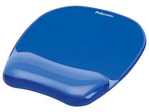Mouse Pad con reposamuñecas Fellowes de 200.1 x 133.4mm. Color Azul.