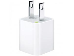 Adaptador de corriente Apple USB de 5 W para iPhone, iPod y iPad mini.