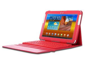 """Funda protectora BRobotix para Galaxy Note 10.1\"""", con Teclado Bluetooth. Color Rojo."""