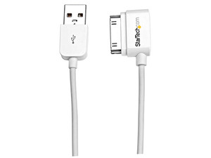 Cable para carga y sincronización StarTech de 30 pines en ángulo izquierdo a USB, 2m.