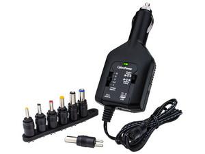 Adaptador de corriente universal Cyberpower, 7 puntas intercambiables. Color negro.