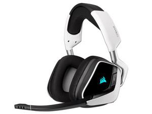 Audífonos tipo diadema Corsair Void RGB Elite, respuesta de frecuencia 20-30000Hz, Audio envolvente 7.1, USB. Color Negro/Blanco.
