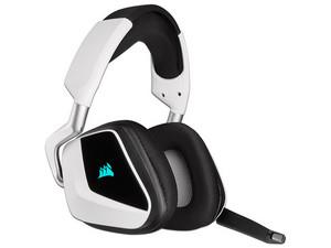 Audífonos tipo diadema Corsair Void RGB Elite, respuesta de frecuencia 20-30000Hz, Audio envolvente 7.1, inalámbricos. Color Negro/Blanco.