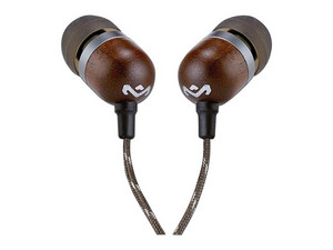 Audífonos con micrófono House Of Marley EM-JE041-MI, 18Hz-20Khz, 3.5mm. Color Negro/Café.