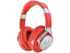 Audífonos tipo diadema Motorola Pulse Max 7100178 con micrófono, respuesta de frecuencia 20 - 20,000 Hz, 3.5mm. Color Rojo.