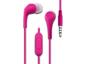 Audífonos manos libres Motorola Earbuds 2 con micrófono, 3.5mm, color rosa.