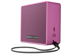 Bocina portátil Energy Sistem EY-445943, batería recargable, Bluetooth, 3.5mm, Radio FM. Color Rosa.