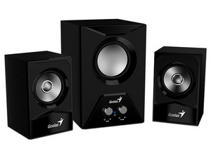 Bocinas 2.1 Genius SW2.1 385, 15Watts RMS. Color Negro.