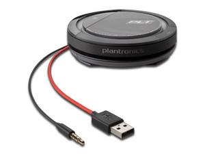 Bocina portátil para conferencias Plantronics Calisto 5200, sonido 360 grados, manos libres, USB, 3.5mm, Recargable.