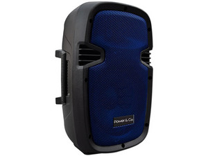 Bocina Power & Co XP-8000 de 2500 Watts, Batería recargable, Radio FM, USB/SD, color azul.