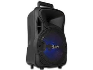 Bocina Stylos STSBA29B, Bluetooth. Color Negro. Incluye Micrófono y control remoto. Color Negro.