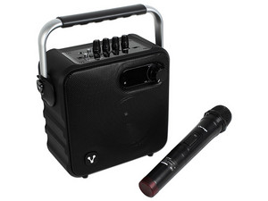Bocina Vorago Karaoke Speaker 400, con Reproductor de Audio, Bluetooth y Karaoke, 3.5mm, USB, FM.