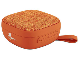 Bocina portátil recargable Xtech YES, Bluetooth, 3.5mm, Color Naranja.