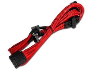 Adaptador de Corriente de Molex a SATA (4-pin) (H-M), 80cm. Color Rojo.
