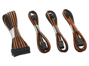 Kit básico de extensión de cable CableMod ModMesh, Serie dual de 6 + 2 pines, Color Negro/Naranja.