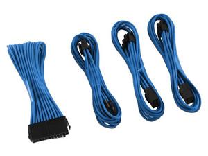 Kit básico de extensión de cable CableMod ModMesh, Serie dual de 6 + 2 pines, Color Azul.