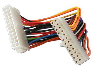 Cable de Extensión de 20cm de 24 Pines de Alimentación para Fuente de Poder ATX