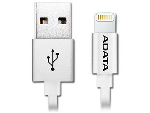Cable Adata Lightning a USB, 1m. Color Silver.