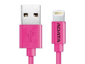 Cable Adata Lightning a USB, 1m. Color Rosa.