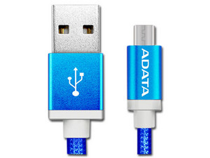 Cable ADATA USB 2.0 macho/MicroUSB macho de 1m. Color Azul.