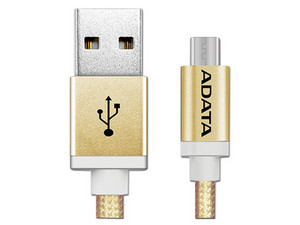 Cable ADATA USB 2.0 macho/MicroUSB macho de 1m. Color Dorado.